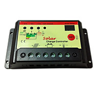 10A 12V/24V solar charge controller ,double LED lighting display with time and lighting control