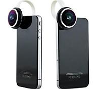 Staccabile C Stile clip 235 gradi Super Fisheye obiettivo fish eye per iPhone / iPad / Samsung Phone
