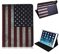 Elegant Design The US Flag Pattern PU Leather Full Body Case with Stand for iPad Air