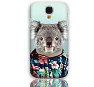Koala bonito Padrão Hard Case com protetores de tela de 3-Pack para Samsung Galaxy S4 mini-I9190