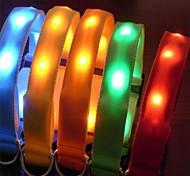 Dog Collar Reflective / LED Lights / Adjustable/Retractable Red / White / Green / Blue / Pink / Yellow / Orange Nylon