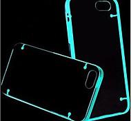 Fluorescent Effect After Lighting Transparent Back Case for iPhone 5C (Assorted Color)