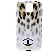 Gradient Ramp White Leopard Ski Pattern Soft Anti-Shock Back Case Cover for Samsung Galaxy S4 I9500