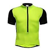 Jaggad Summer Unisex Black Light Green Polyester Spandex Rear Pocket Cycling Jersey