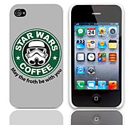 Forth Be with You Design Back Case with 3-Pack Screen Protectors for iPhone 4/4S