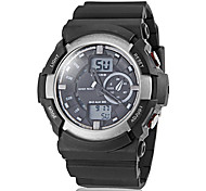 Men's Dual Time Zones Multi-Function Silicone Band Sporty Wrist Watch (Assorted Colors)