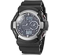 banda zonas dupla tempo dos homens multi-funções desportivo silicone relógio de pulso (cores sortidas)
