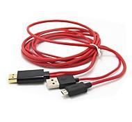 MHL Micro-USB-Stecker auf HDMI-Adapter-Kabel für HTC Flyer Galaxy S2 i9000 2M