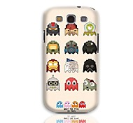 Robot Pattern Hard Case with 3-Pack Screen Protectors for Samsung Galaxy S3 I9300