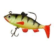 Silicone souple multi-section pêche Lure Crank Bait