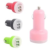 Mini Portable Car Charger with 2xUSB for Cellphone (5V 2.1A)