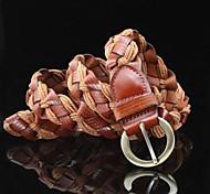 Women's Casual  Weave Leather  Buckle Belt
