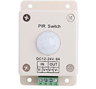 Cuerpo del interruptor de luz LED PIR humano de inducción para el regulador de PIR LED (DC12V 96W DC24V 192W)