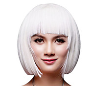 Capless Short Bob White Synthetic Wig