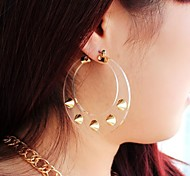 China Supplier New Coming Hot Sale Rivet Hoop Earrings