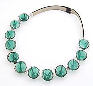 Green Gem Choker Necklace