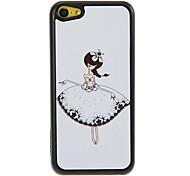 Dança Padrão Menina Shimmering PC Hard Case para iPhone 5C
