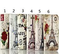 Retro Paris Eiffel Tower Design PU Protective Case  for iPhone 4/4S (Assorted Color)