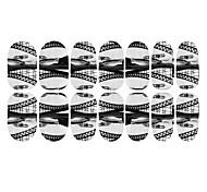 12PCS Black White Bridge Luminous Nail Art Stickers