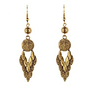 Pattern Metal Drop Earrings