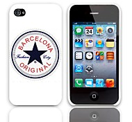 Barcelona Design Back Case with 3-Pack Screen Protectors for iPhone 4/4S
