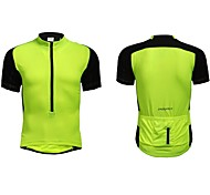 Jaggad Summer Unisex Black Light Green Polyester Spandex Rear Pocket Cycling Jersey