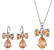 Fashion Style Alloy Butterfly Necklace Earring Jewelry Set