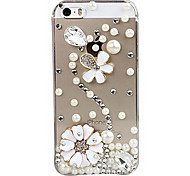 Flower Decorated Back Case for iPhone 5/5S