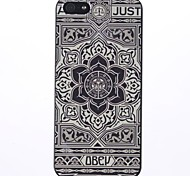 Modelo grande Gray Flower PC caso duro para el iPhone 5/5S