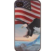 3D Image The American Flag And an Eagle  PC Hard Case for iPhone 4/4S