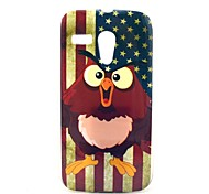 US Flag Owl Cartoon Pattern Soft Case Cover for Moto G