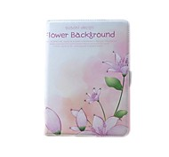 PU Leather With Flower Background and rhinestone Case for iPad Air