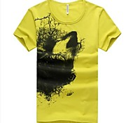 T-shirt a maniche corte Summer Fashion girocollo Uomo