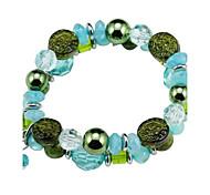 Acrylic Blue Green Bracelet