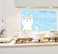 doudouwo ® животные милый кот анти-нефть наклейки