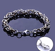 Personalized Gift  Handmade Stainless Steel Jewelry  Engraved Chain Link Bracelets 0.8cm Width