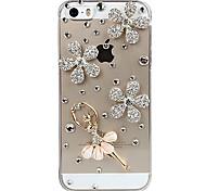 Dança Cristal Menina Design De volta para o iPhone 5/5S