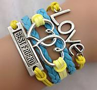 bracelet d'enveloppe d'amour bleu