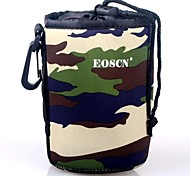 EOSCN Camouflage Pattern Protective Neoprene Bag for DSLR Camera Lens - Green (Size M)
