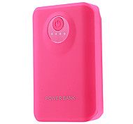 8400mAh Multi-output External Battery with Flashlight for Mobile Device(Rose)