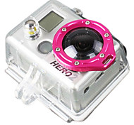 Gopro Accessories Smooth Frame For Gopro Hero 1 / Gopro Hero 2 Aluminium Alloy Pink