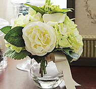 "7 ""h exquise table bouquet de fleurs arrangement (vert)"