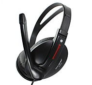 Computer Headset with Wheat Ear Headphones with a Call