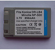 Dr-lb4/np500 3.7v 800mah batería de la cámara digital para kd310 konica y más