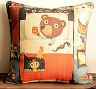 Lovely Cartoon Bear Pattern Car Auto Seat Back Cushion Cuddle Pillow Sofa Soft Cushion