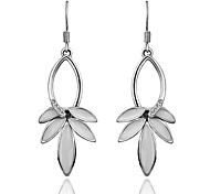 Women's Hot  18KRGP Creative Design Leaf Shaped Earrings
