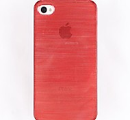 Fashion Sliding Surface Wire Drawing Plastic Hard Case for iPhone 4/4S(Assorted Colors)