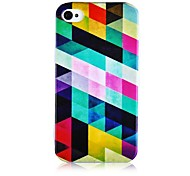 Colorful Geometria Figura Soft Case de silicone para iPhone5/5S