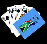 Regalo personalizzato Blu Sudafrica Bandiera Motivo Playing Card