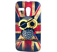 UK Flag Owl Cartoon modello Soft Cover Case for Moto G